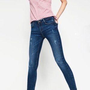 Zara Trafaluc Embrace Skinny Mid Rise Jeans 4